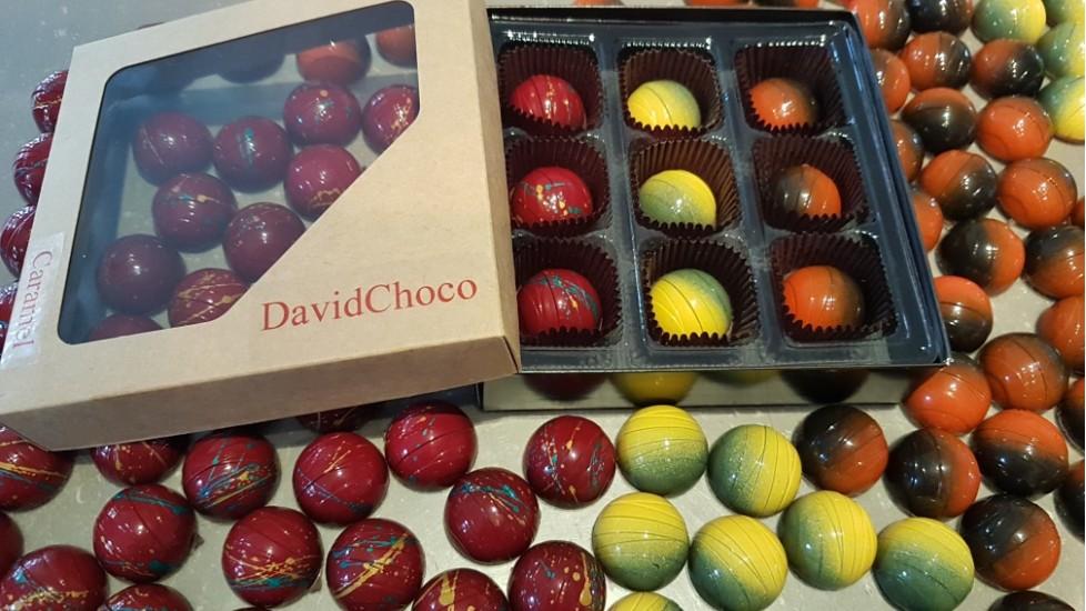 Caramel - Boîtier de 9 chocolats