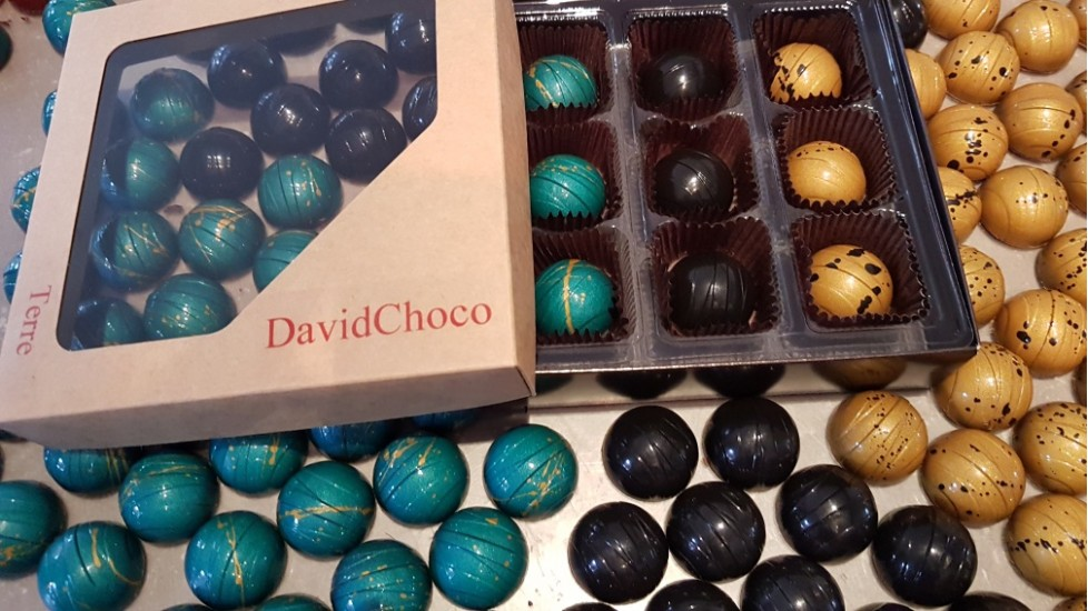 Terre - Boîtier de 9 chocolats