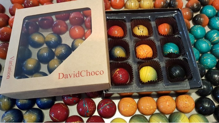 Variation... sur un même thème! - Boîtier de 9 chocolats